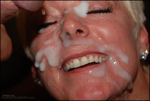 semen facials with a smile british milf bukkake is an art form